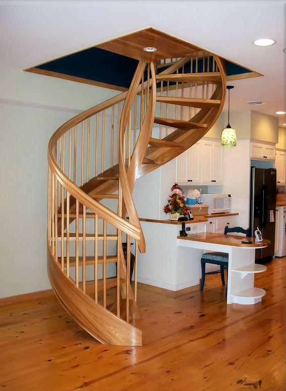 Wooden Spiral Staircase (15)