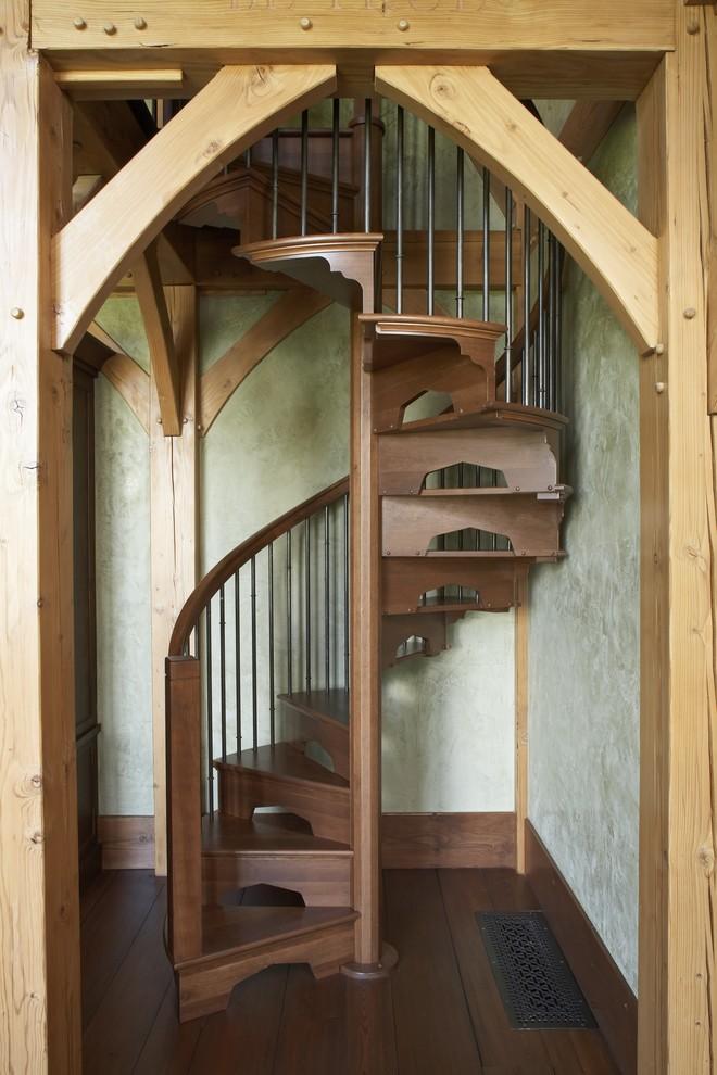 Wooden Spiral Staircase (21)