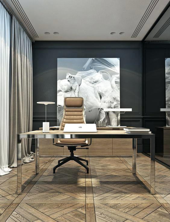 Modern Home Office thewowdecor (17)