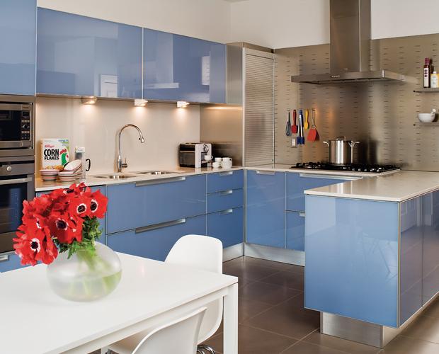 Glossy Mauve Cabinets Thewowdecor