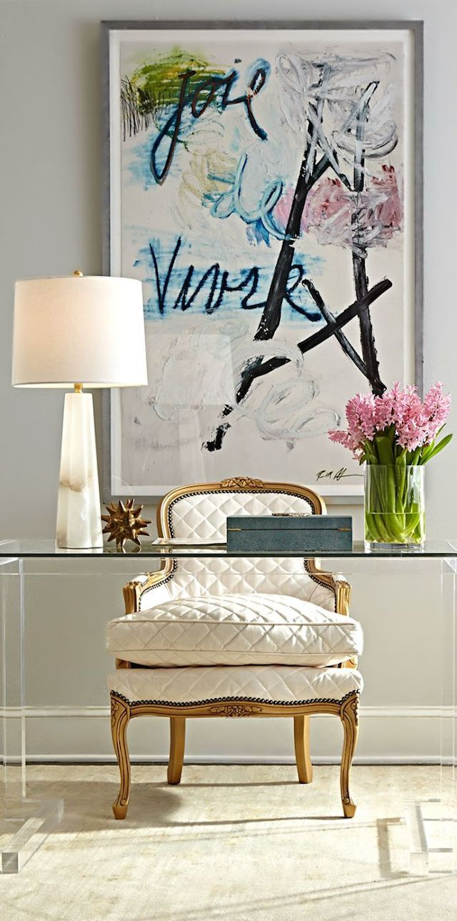 Luxurious Tufted Chair Home Office Thewowdecor