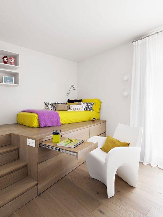 Small Space Saving Office Inside Bedroom Thewowdecor