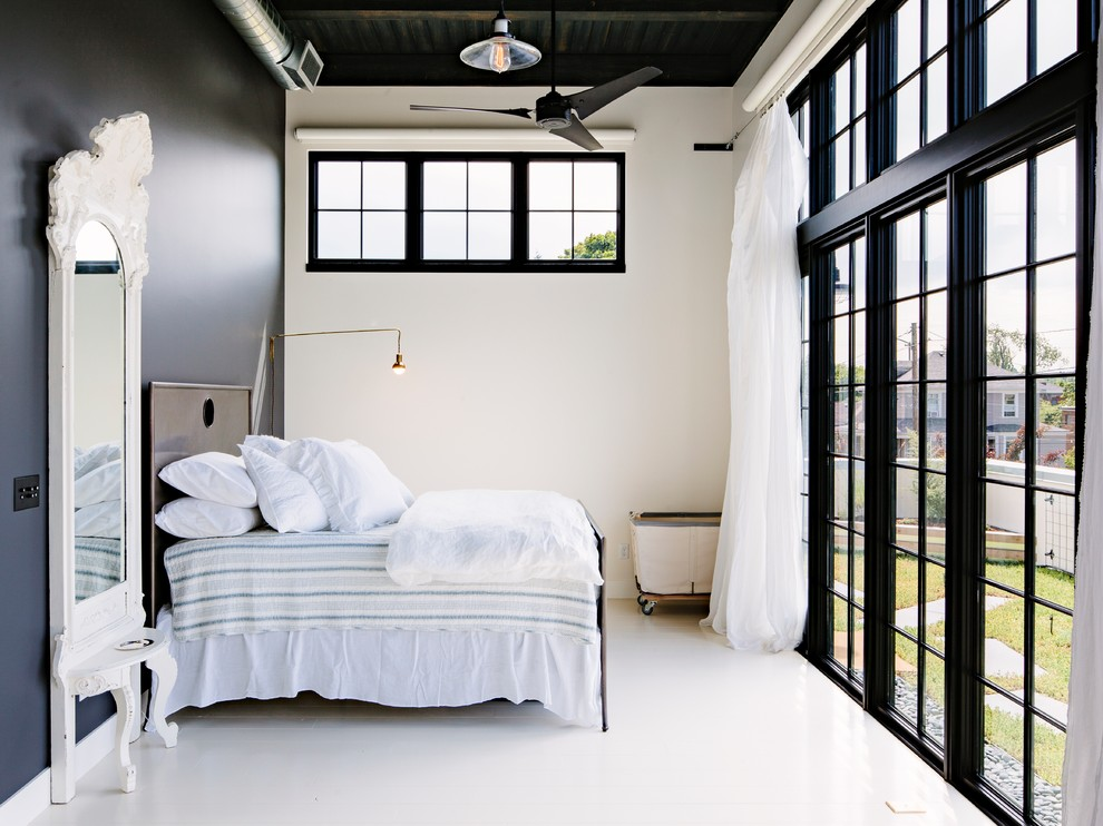 industrial-bedroom-blacck and white