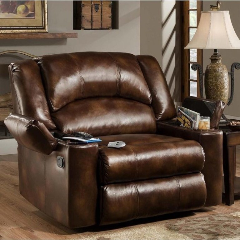 Acozy recliner placed besides a side table