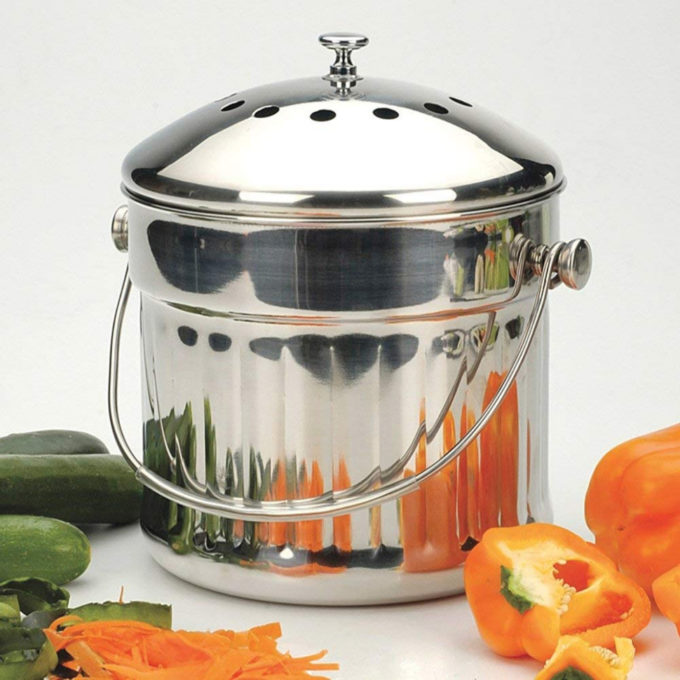 1.5 Gallons : Odor-Free Countertop Compost Container: 1.5 Gallons pertaining to Terrific Kitchen Countertop Compost Container Applied To Your Residence Idea