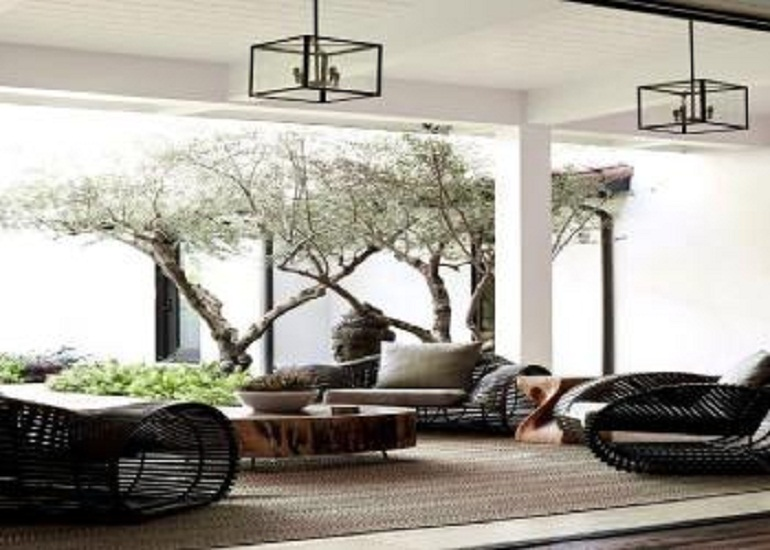 Modifying the look with designer patio furniture
