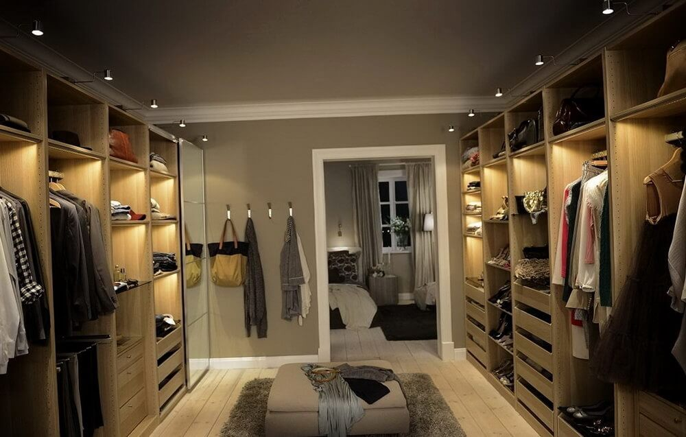 Use ceiling spots, lights, and mirrors