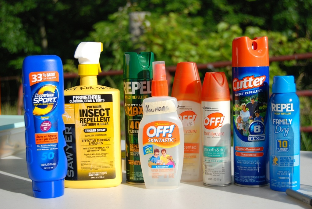 Bug Spray and Sunscreen